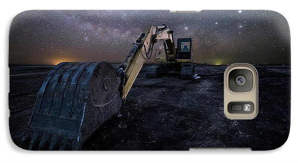 Galaxy Case featuring the photograph Space Excavator  by Aaron J Groen