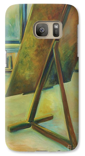Galaxy Case featuring the painting Space Filled And Empty by Daun Soden-Greene