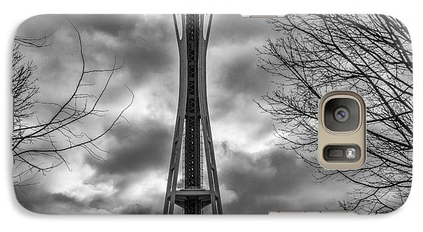 Space Needle Bw Galaxy S7 Case