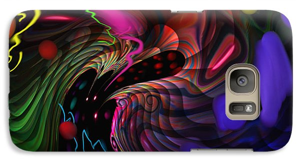Galaxy Case featuring the painting Space Rocks by Kevin Caudill