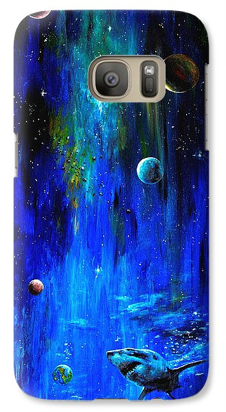 Galaxy Case featuring the painting Space Shark by Arturas Slapsys