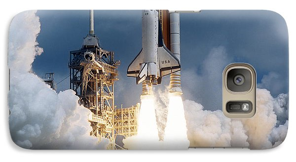 Space Ships Galaxy S7 Case - Space Shuttle Launching by Stocktrek Images