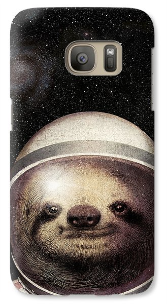 Astronaut Galaxy S7 Case - Space Sloth by Eric Fan
