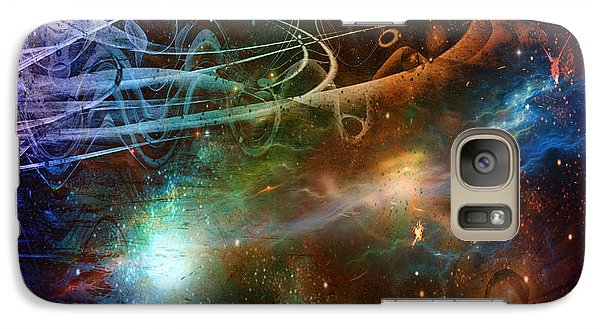 Galaxy Case featuring the digital art Space Time Continuum by Linda Sannuti