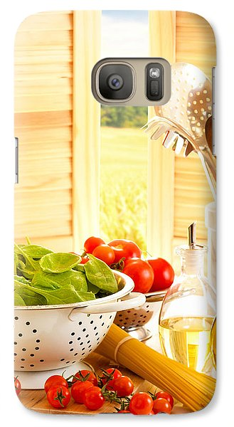 Spaghetti And Tomatoes In Country Kitchen Galaxy S7 Case