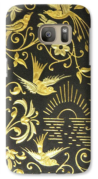 Galaxy Case featuring the photograph Spanish Artistic Birds by Linda Phelps