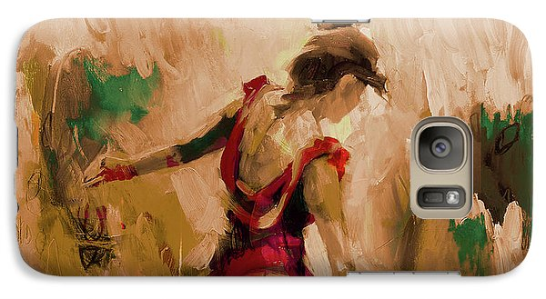 Galaxy Case featuring the painting Spanish Dance Culture  by Gull G