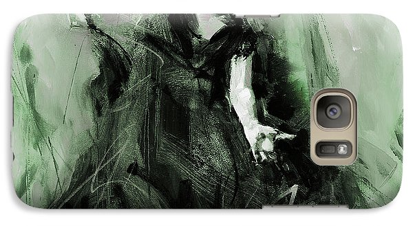 Galaxy Case featuring the painting Spanish Flamenco Dancer by Gull G