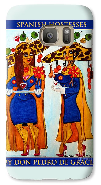 Galaxy Case featuring the painting Spanish Hostesses. by Don Pedro De Gracia