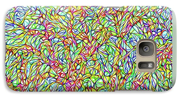 Galaxy Case featuring the digital art Sparkling Lakeside Trees - Park In Boulder County Colorado by Joel Bruce Wallach