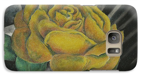 Galaxy Case featuring the painting Sparkling Rose by Miriam Shaw