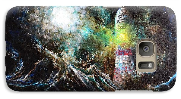 Galaxy Case featuring the painting Sparks - The Storm At The Start by Sandro Ramani