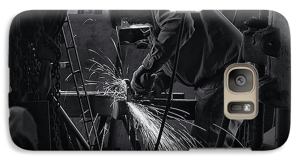 Galaxy Case featuring the photograph Sparks by Tom Singleton