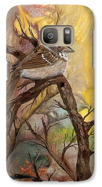 Galaxy Case featuring the painting Sparrow by Sherry Shipley