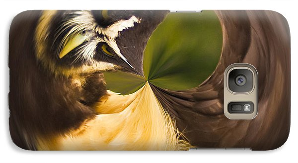 Galaxy S7 Case featuring the photograph Spectacled Owl Orb by Bill Barber