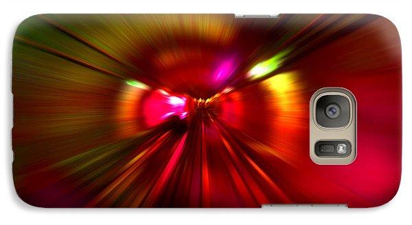 Galaxy Case featuring the digital art Speed - Metro Subway Train by Menega Sabidussi