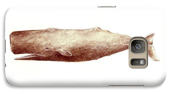 Whale Galaxy S7 Case - Sperm Whale by Michael Vigliotti