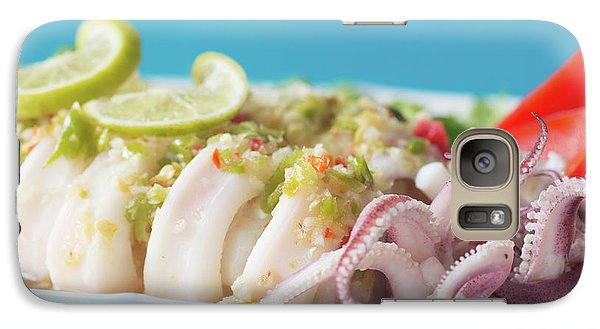 Galaxy Case featuring the photograph Spicy Food, Steamed Squid by Atiketta Sangasaeng