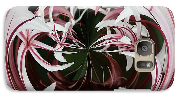 Galaxy S7 Case featuring the photograph Spider Lily Orb by Bill Barber
