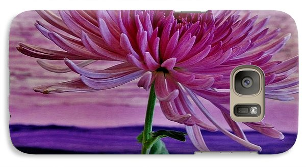 Galaxy Case featuring the photograph Spider Mum With Abstract by Marsha Heiken