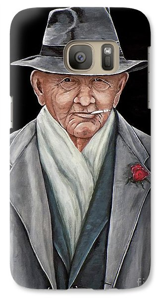 Galaxy Case featuring the painting Spiffy Old Man by Judy Kirouac
