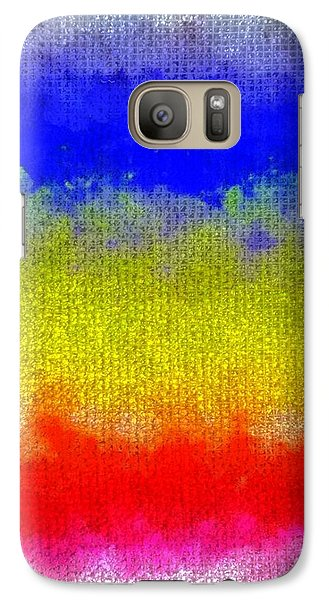 Galaxy Case featuring the digital art Spilled Paint 1 by Darla Wood