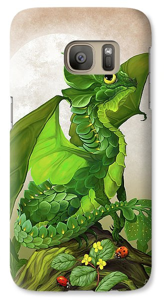 Galaxy Case featuring the digital art Spinach Dragon by Stanley Morrison