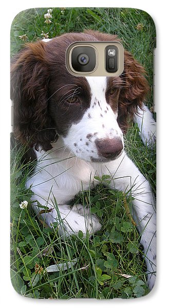 Galaxy Case featuring the photograph Spinger Spaniel Pup by Angie Rea