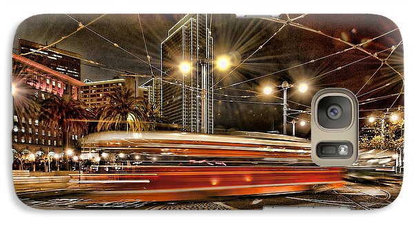 Galaxy Case featuring the photograph Spinning Trolley Car by Steve Siri