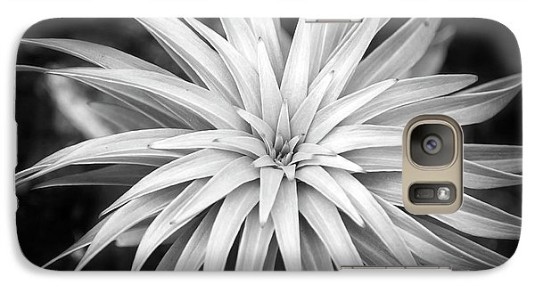 Galaxy Case featuring the photograph Spiral Black And White by Christina Rollo