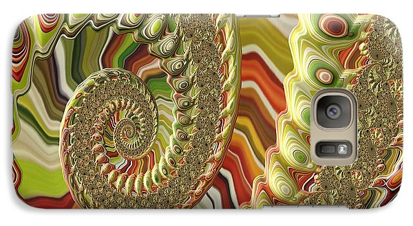 Galaxy Case featuring the photograph Spiral Fractal by Bonnie Bruno