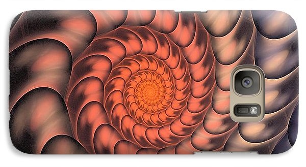 Galaxy Case featuring the digital art Spiral Shell by Anastasiya Malakhova