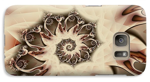 Galaxy Case featuring the digital art Spiral S'mores by Michelle H
