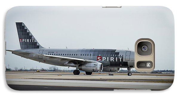 Galaxy Case featuring the photograph Spirit Airlines A319 Airbus N523nk Airplane Art by Reid Callaway
