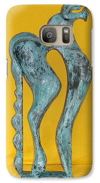 Galaxy Case featuring the sculpture Spirit Of A Young Horse by Al Goldfarb