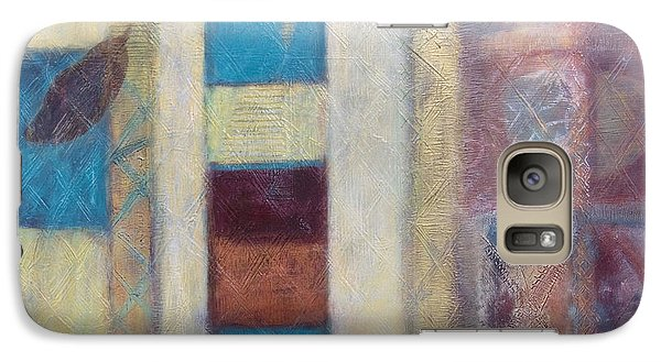 Galaxy Case featuring the painting Spirit Of Gold - States Of Being by Kerryn Madsen- Pietsch