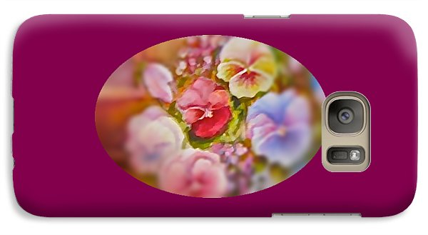 Galaxy Case featuring the painting Spirit Petals by Patricia Schneider Mitchell