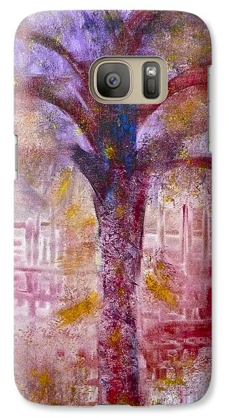 Galaxy S7 Case featuring the painting Spirit Tree by Claire Bull