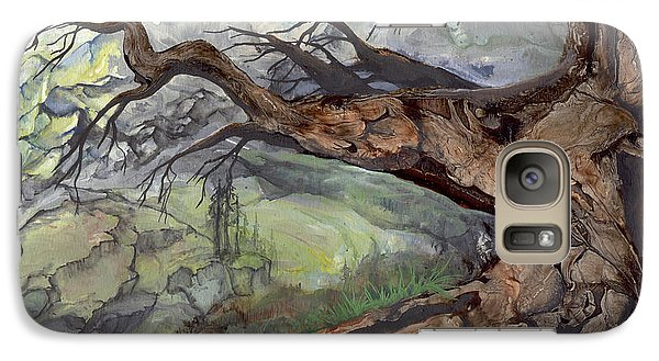 Galaxy Case featuring the painting Spirit Tree by Sherry Shipley