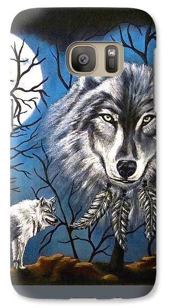 Spirit Wolf Galaxy S7 Case by Teresa Wing