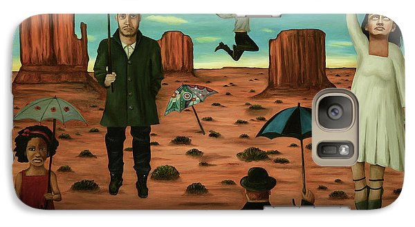 Galaxy Case featuring the painting Spirits Of The Flying Umbrellas 3  by Leah Saulnier The Painting Maniac