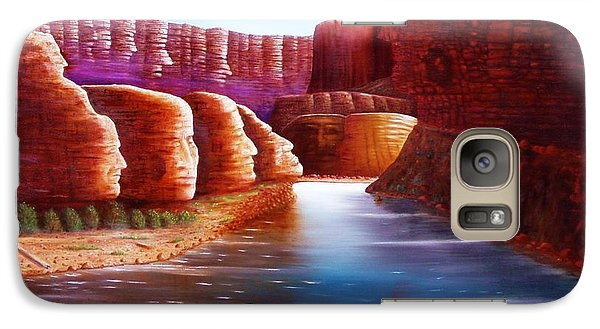 Galaxy Case featuring the painting Spirits Of The River by Gene Gregory