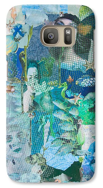 Galaxy Case featuring the mixed media Spirits Of The Sea by Sandy McIntire