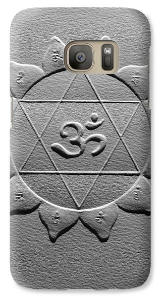 Galaxy Case featuring the relief Spiritual Om Yantra by Suhas Tavkar