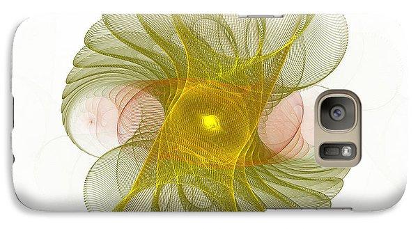 Galaxy Case featuring the digital art Spiro-girations by Richard Ortolano