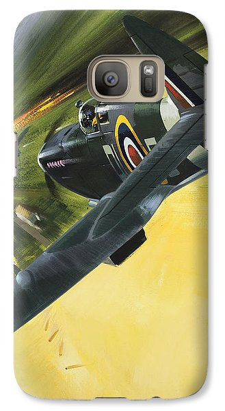 Spitfire And Doodle Bug Galaxy S7 Case by Wilf Hardy
