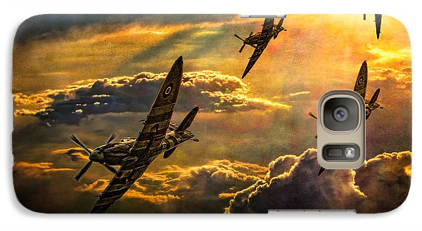 Galaxy Case featuring the photograph Spitfire Attack by Chris Lord