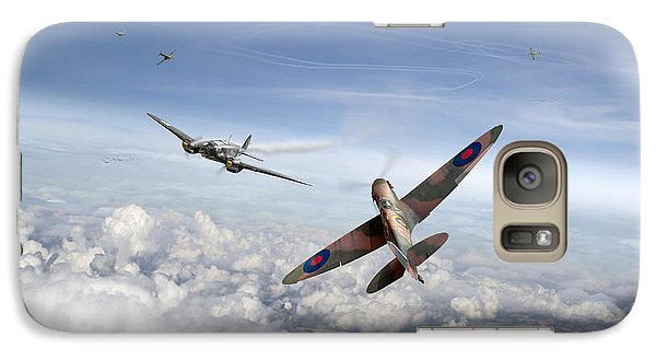 Galaxy Case featuring the photograph Spitfire Attacking Heinkel Bomber by Gary Eason