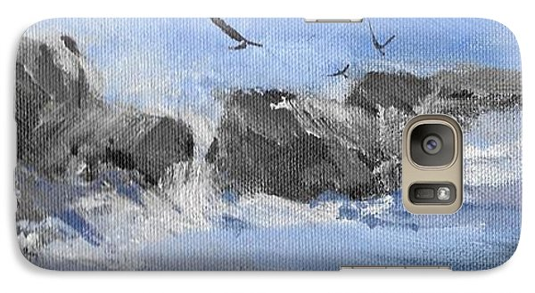 Galaxy Case featuring the painting Splash by Helen Harris