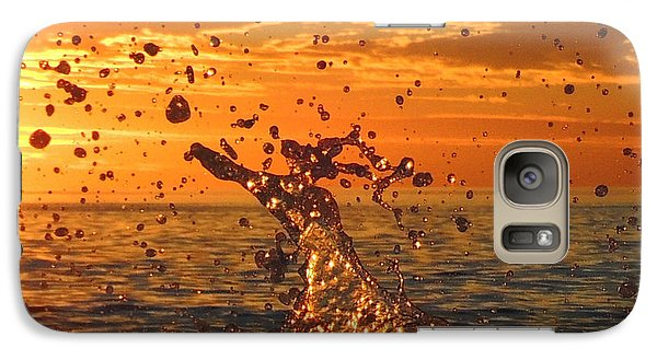 Galaxy Case featuring the photograph Splash by Linda Hollis